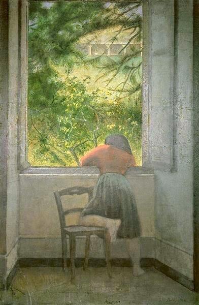 Бальтюс «Маленькая девочка у окна» (1955)