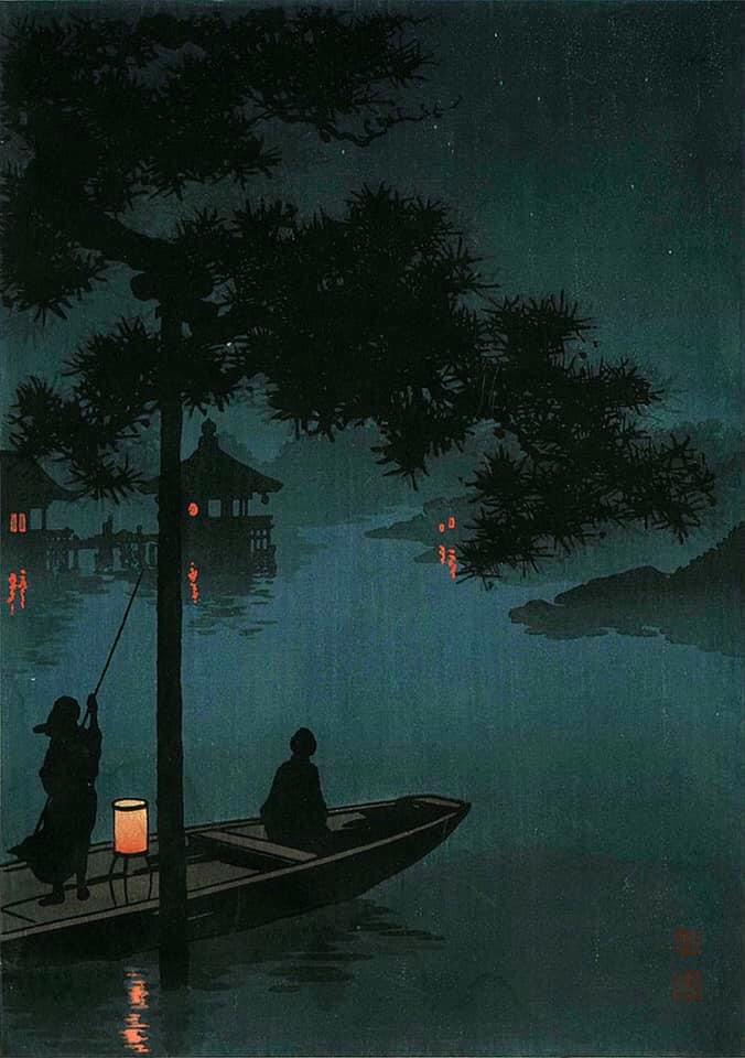 """Кохо Шода, """"Озеро Бива"""" с. 1920s."""