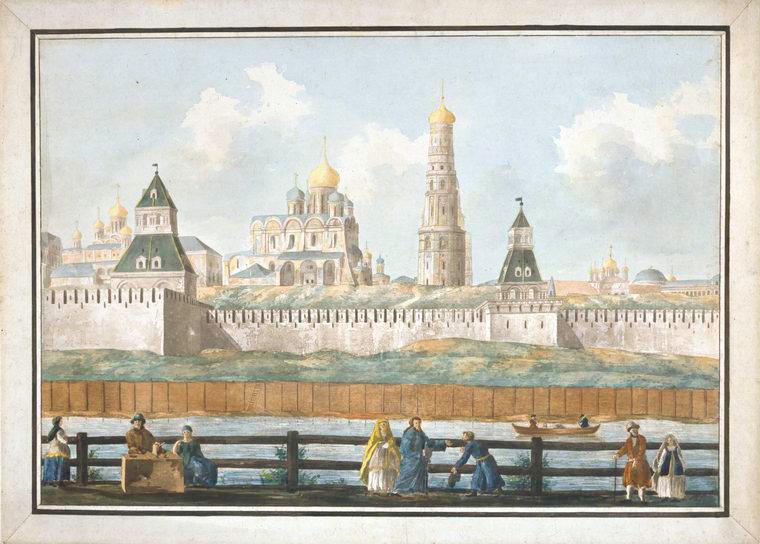 Один из пяти листов панорамы Кремля работы Франческо Кампорези.