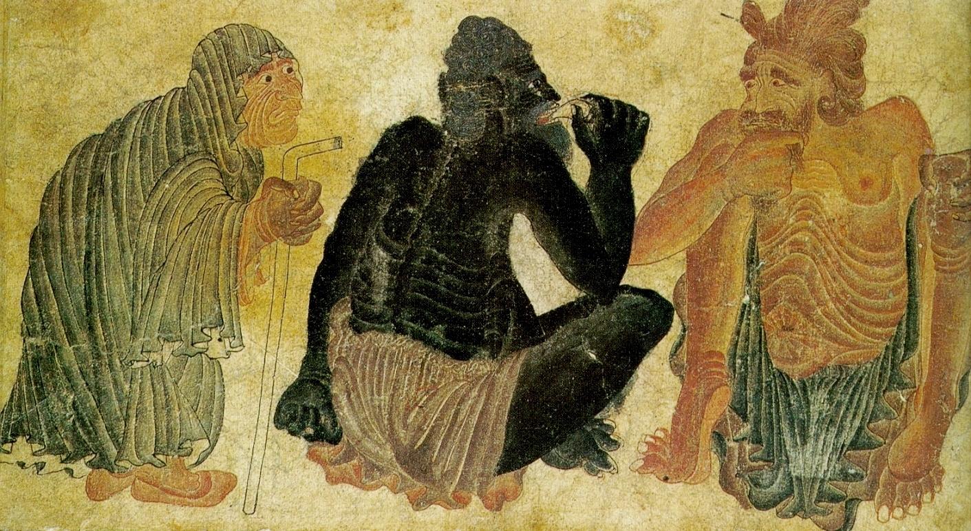 "Мухаммад «Сиях Калам», рисунок ""Беседа"" XV в."