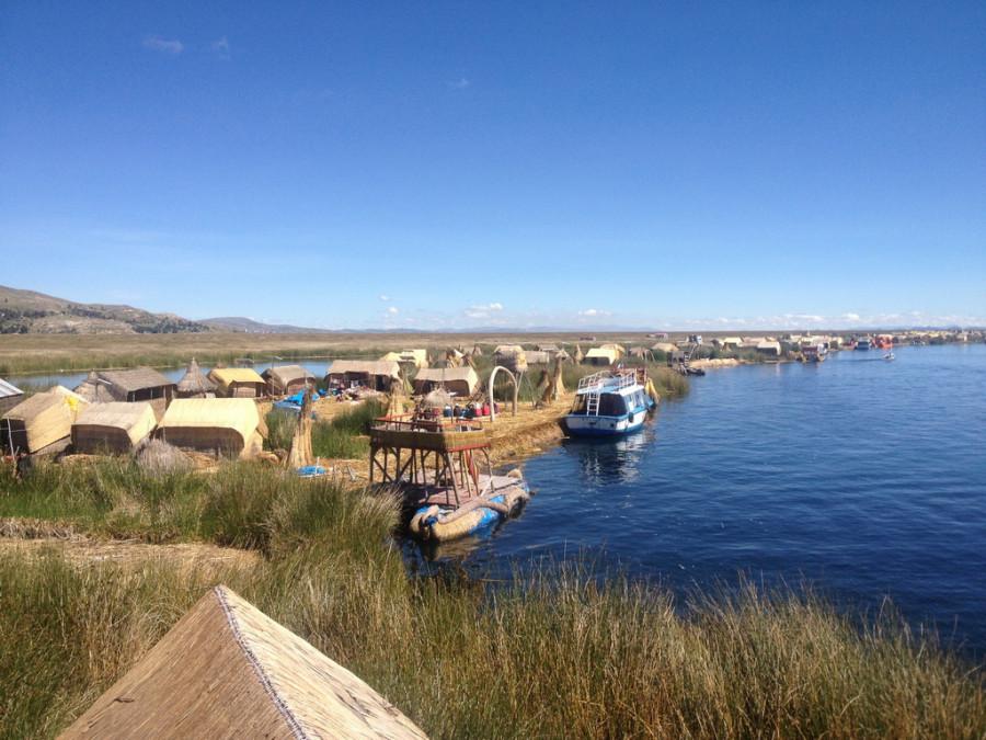 причал. озеро Титикака