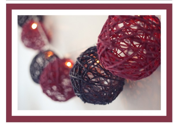 Новогодние шары и гирлянды своими руками