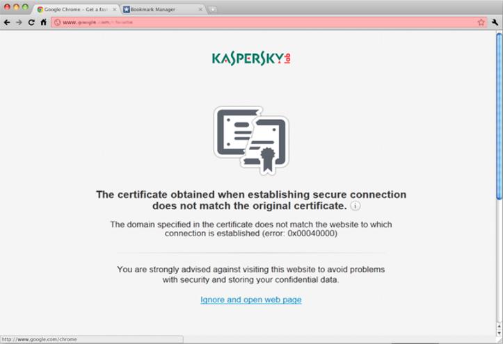 SafeMoney блокирует сайт по поддельному сертификату