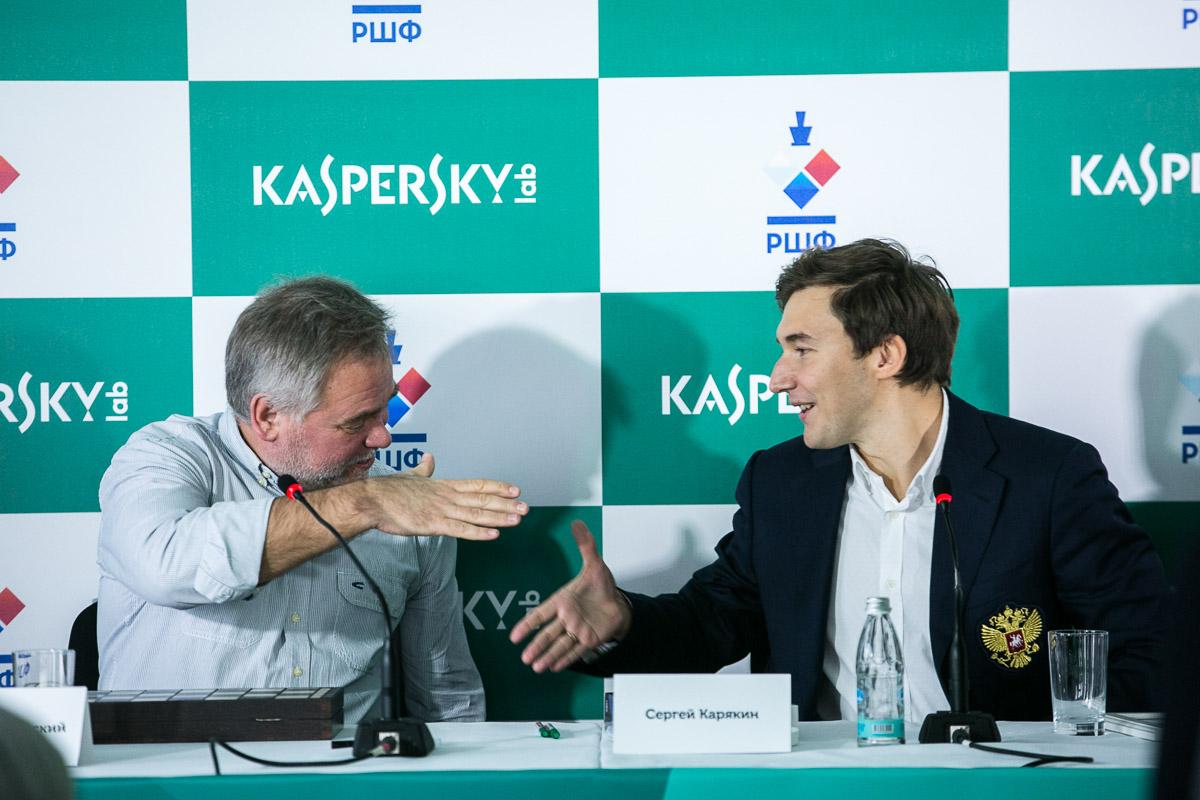 Лаборатория Касперского - официальный спонсор Сергея Карякина