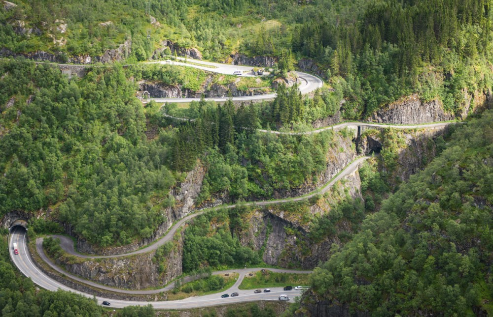 Норвегия с высоты птичьего полёта