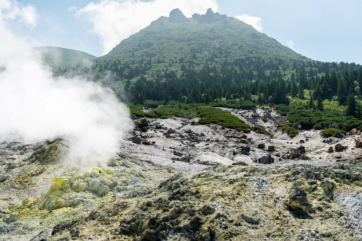 Фумарольное поле под вулканом Менделеева