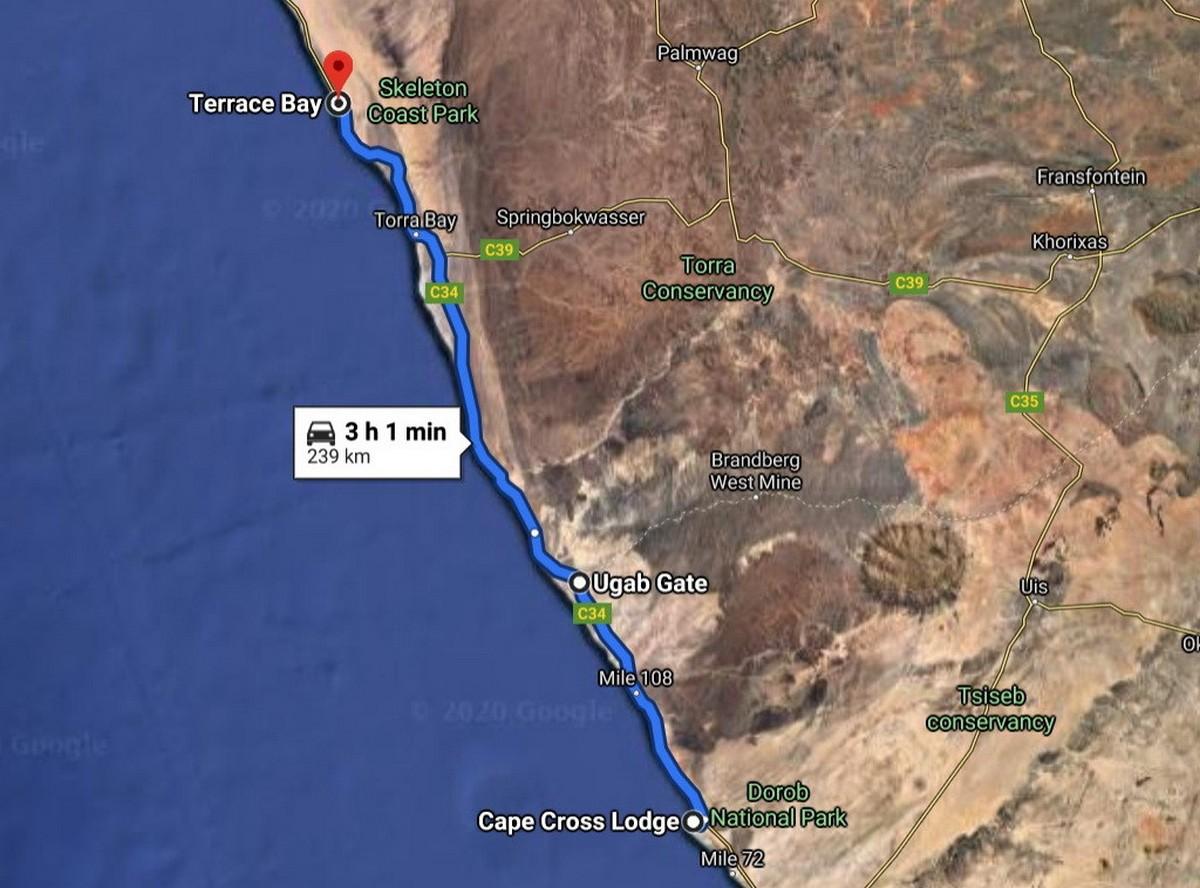 Намибия, день подвига: Берег Скелетов. Часть 1. map-terrace-bay