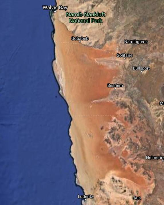 Намибия, день подвига: Берег Скелетов. Часть 1. map-desert