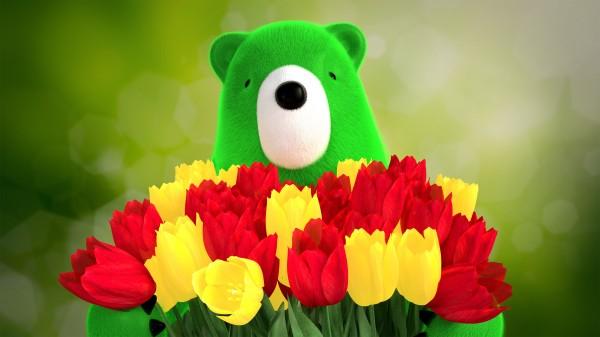 Восьмомартовское. bear_flowers