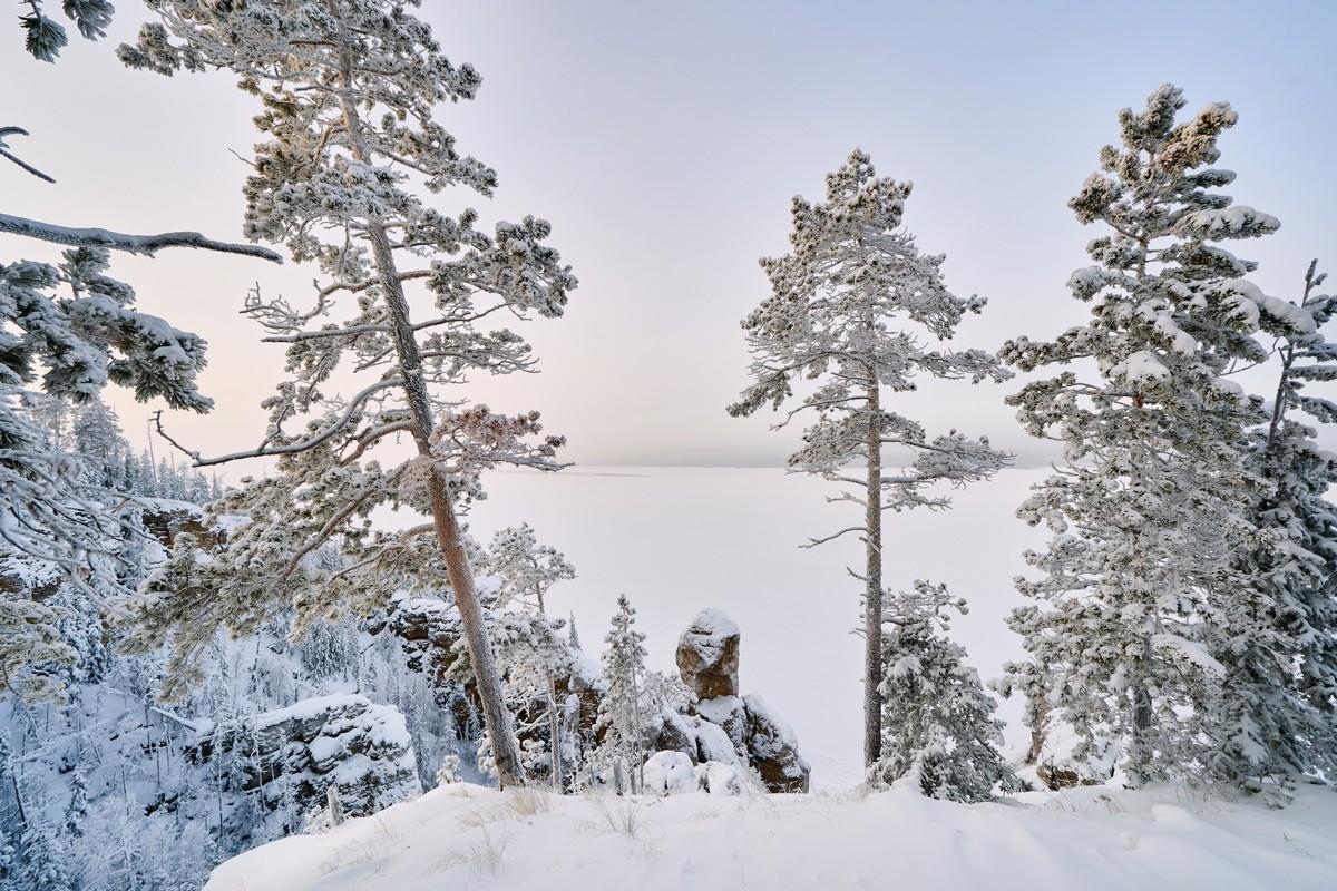 Ленские столбы: зимой и летом другим цветом. 281-8482