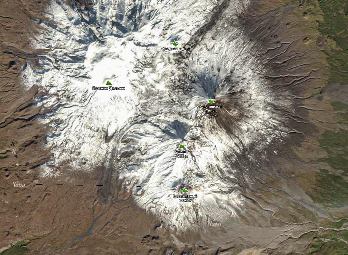 Ключевской сад вулканов.