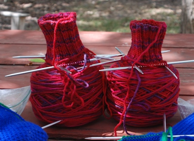 Mountain-Colors-Indian-Paintbrush-socks-started