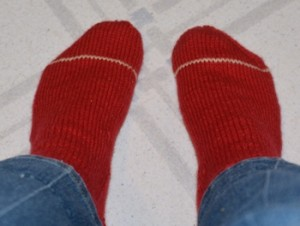 Red-white-stripe-socks-pair