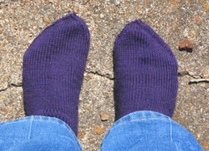Purple-socks-overhead