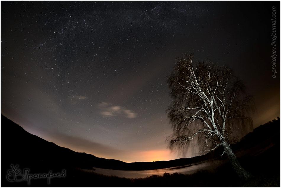 Фото с астротрекером, выдержка 120с, ISO400