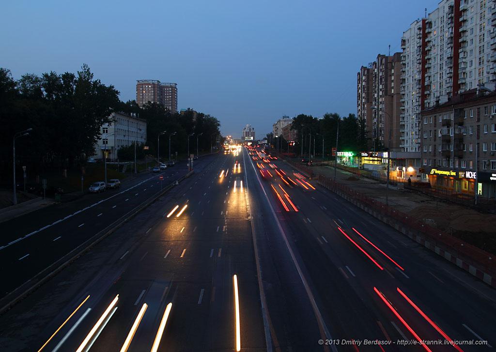 Реконструкция Можайского шоссе.