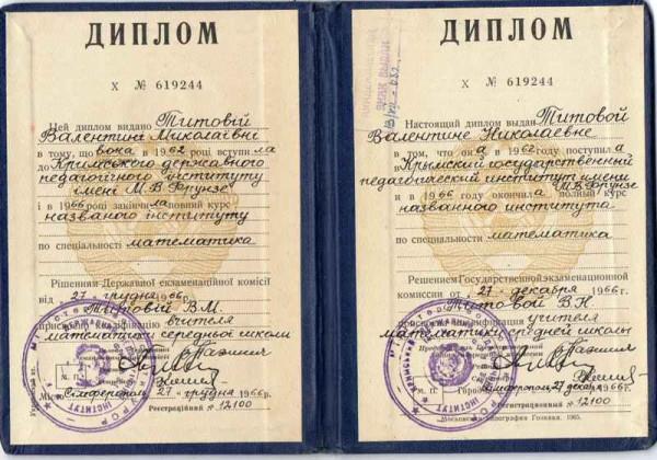 Украинский диплом