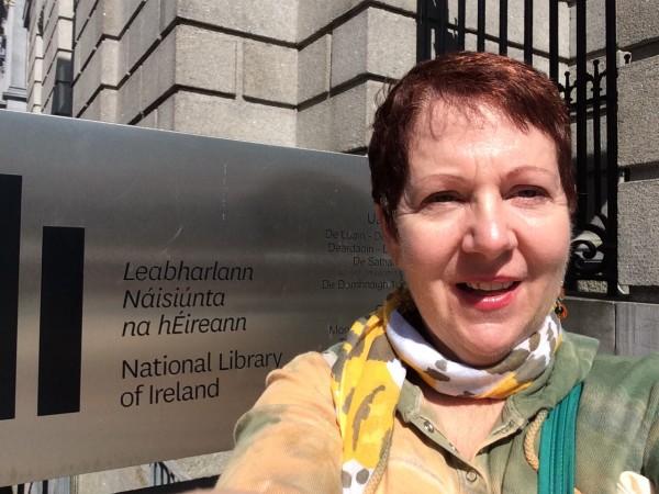 Selfie at Irish Library