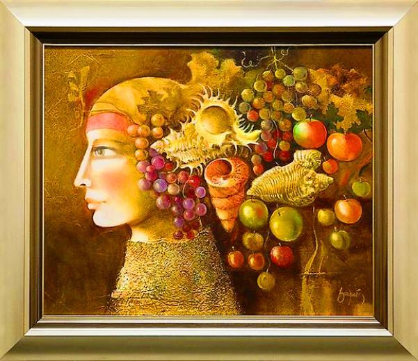 Perfil Con Caracoles y Frutas_Baques