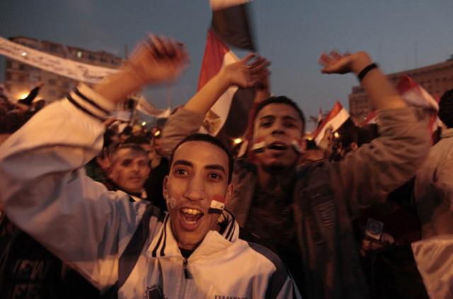 Triumphant Egyptian's Celebrate