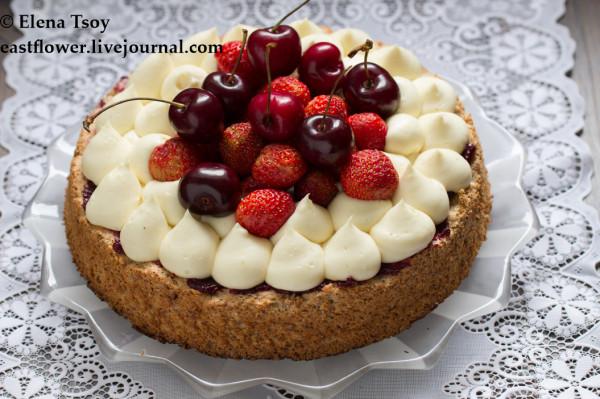Тарт с лавандовым кремом и ягодами2