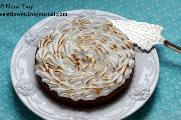 шоколадный тарт с лимонным курдом и меренгой 2_1