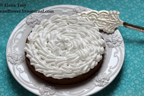 шоколадный тарт с лимонным курдом и меренгой 1_1