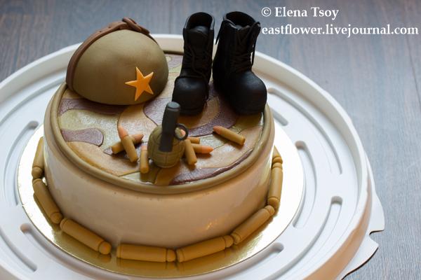 Торт в военном стиле2