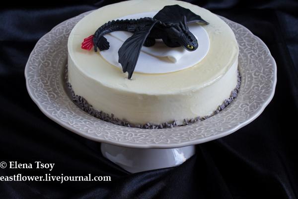 Торт с личи и чаем Эрл грей