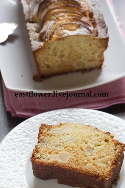 Яблочный кекс с кунжутом2