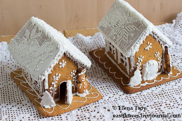 Рождественские домики с росписью