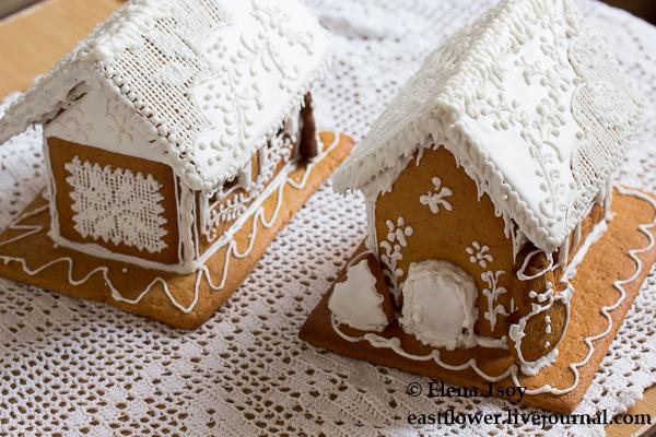 Рождественские домики с росписью2
