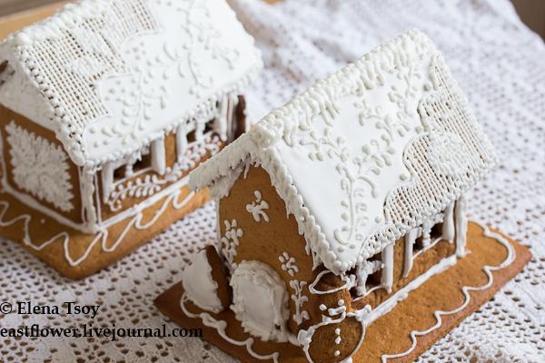 Рождественские домики с росписью3