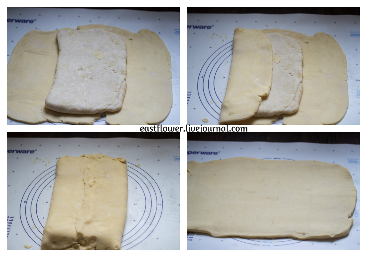 Инвертное слоеное тесто или слоеное тесто наоборот