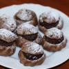 Шоколадные заварные пирожные