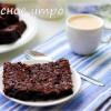 Шоколадно-творожно-овсяные квадратики
