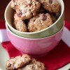 Овсяное печенье с орехами и клюквой