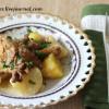 Лисички, тушеные с картошкой