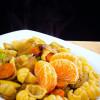 Паста с цитрусовыми и овощами