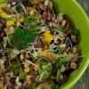 Теплый осенний салат