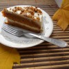 Тыквенный торт с нежным кремом и орехами