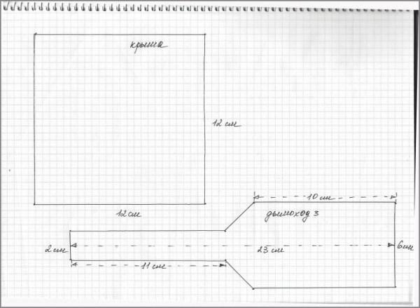 шаблон домика 2