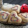 Печеньки-сердечки ромовые