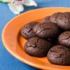 Постное шоколадно-малиновое печенье