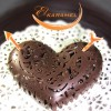 Шоколадное ажурное сердце