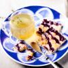 Овсяные квадратики с пюре из ягод и сгущенным молоком