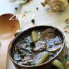 Шпинатный суп с грибами
