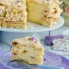Торт Наполеон с лавандовым кремом