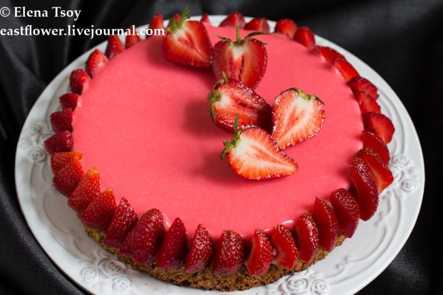 Тарт клубника-ревень с белым шоколадом2