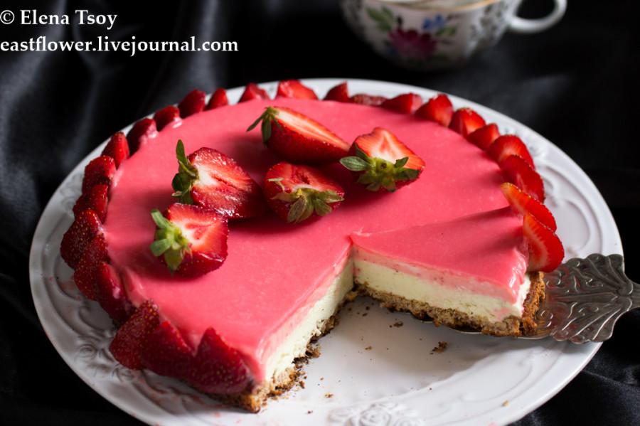 Тарт клубника-ревень с белым шоколадом3